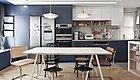 77㎡精装房改造,颜控美食博主的家,客厅可变形,还有开放式大厨房+餐厅!