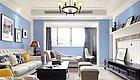 180m²蓝色调美式住宅,明快开阔,让人心情欢畅!