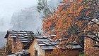 太行这座清代建设的河南小村 遇到初雪就赢了整座山