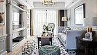 109㎡现代美式三居室,电视墙装满柜子,床头做衣柜,飘窗做书桌真实用