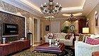 2套120㎡简欧三居室装修12万,电视背景墙一个用瓷砖一个用壁纸