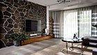 142平的简约风三居室,客厅的电视背景墙创意又自然
