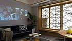 成都的92平原木风房子,舍弃电视换成投影,还有个地台