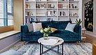 """装修效果图:89㎡北欧风格装修,利用沙发背景墙做了一个""""家庭图书馆""""!"""